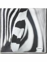 Burberry Schal mit Zebra-Print - Schwarz