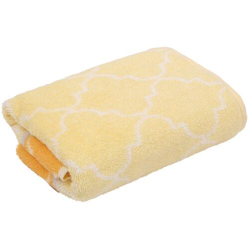 """Cawö Handtuch """"Kachel"""", Baumwolle, 50x100 cm, gelb, 050x100 cm"""