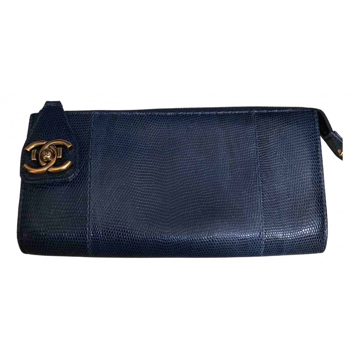 Chanel blue Lizard CLUTCH BAGS