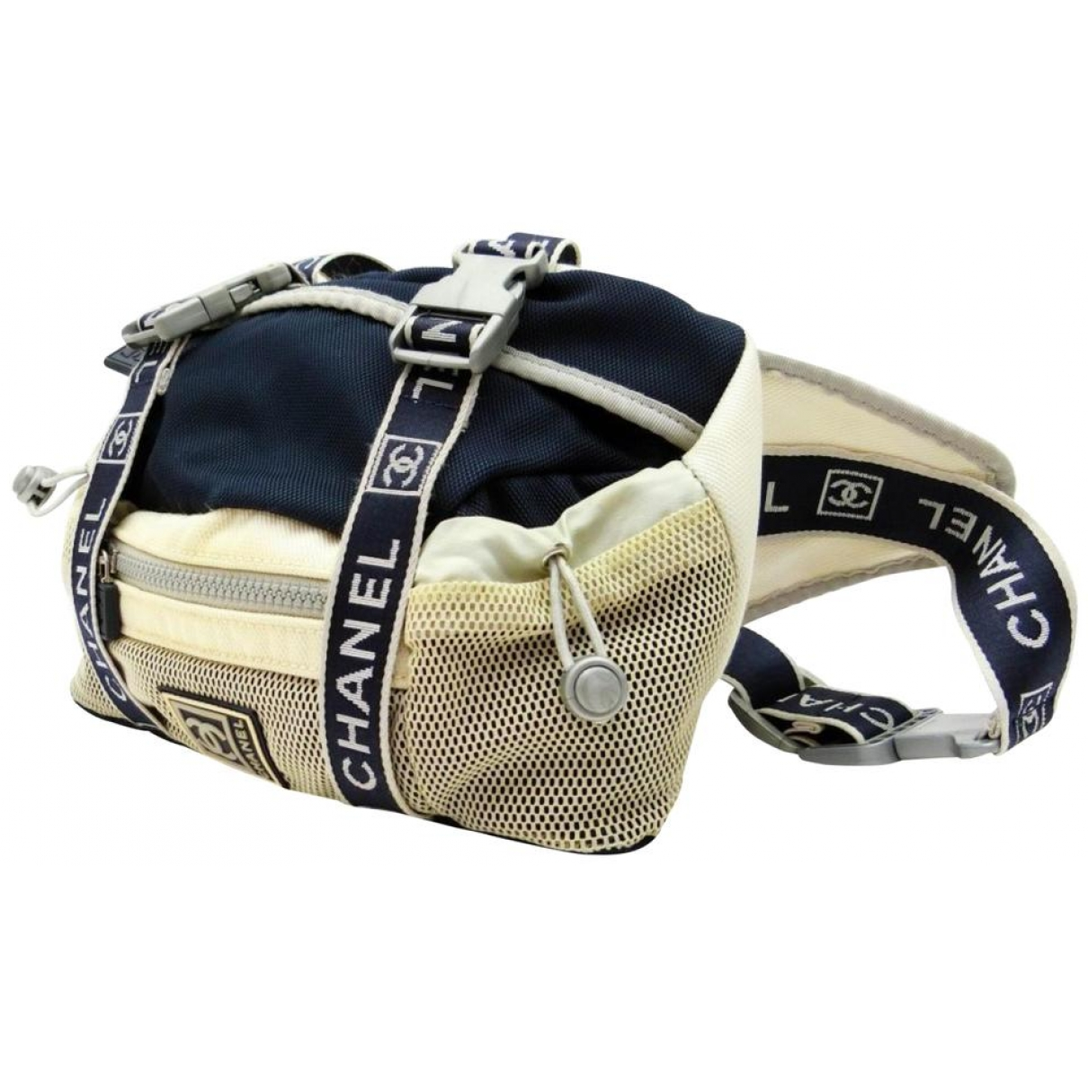 Chanel navy Cloth TRAVEL BAGS