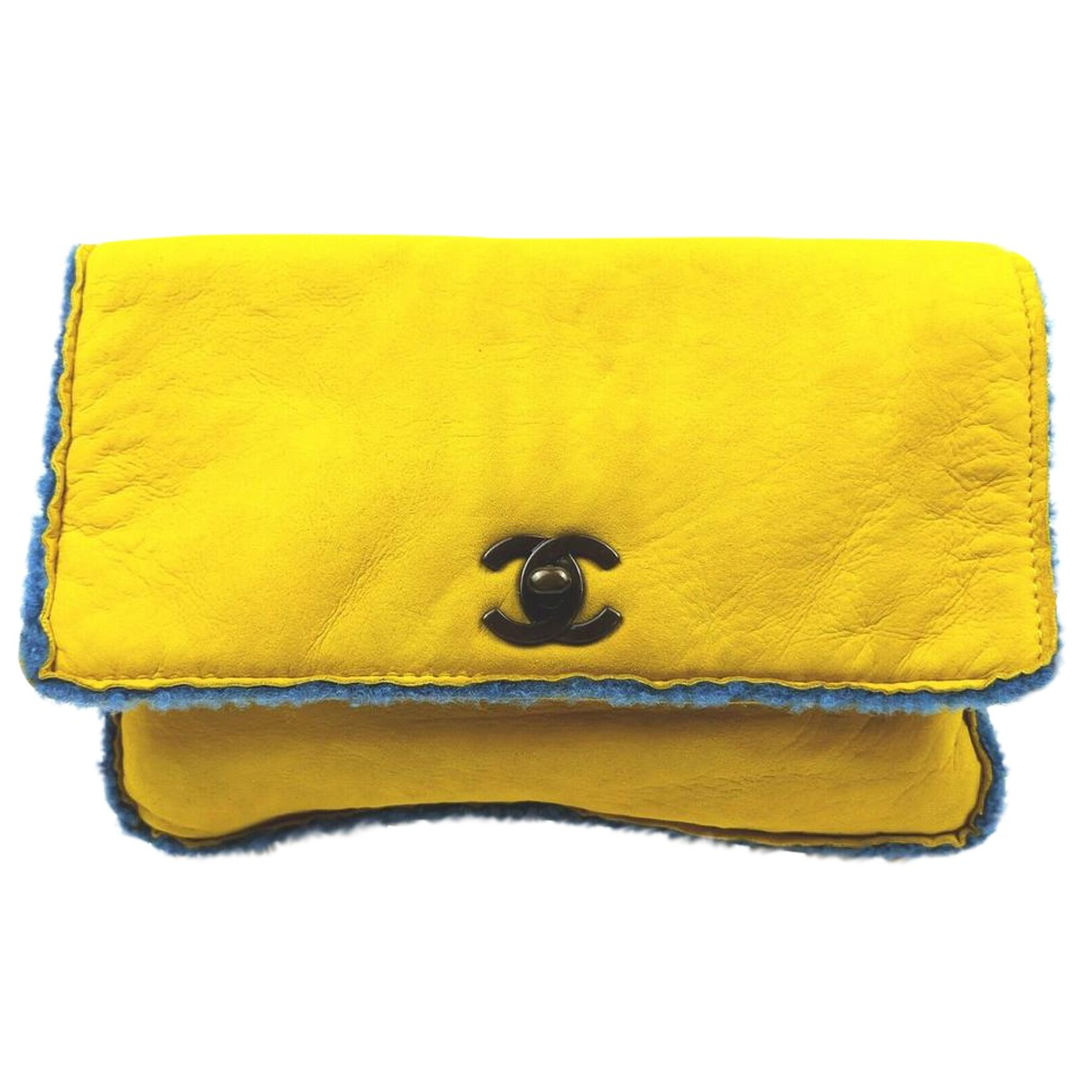 Chanel yellow Cloth CLUTCH BAGS