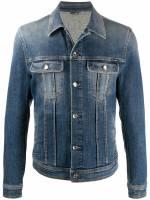 Dolce & Gabbana Ausgeblichene Jeansjacke - Blau