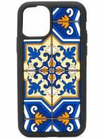 Dolce & Gabbana iPhone 11 Pro-Hülle mit Maiolica-Print - Schwarz