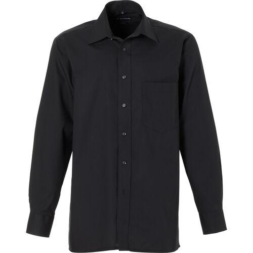 Dunmore Businesshemd, Regular Fit, Kent-Kragen, bügelfrei, uni, für Herren, schwarz, 38