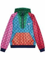 Gucci GG Multicolor Jersey-Hoodie - Blau