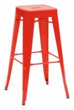 H Barhocker lackierter Stahl - H 75 cm - Tolix - Rot