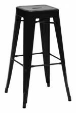 H Barhocker lackierter Stahl - H 75 cm - Tolix - Schwarz