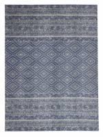 Kayoom Outdoor-Teppich - Sunny 110 Hellblau, weiß, 160cm x