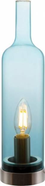 "LED Tischleuchte ""BOTTLE"", blau, Material Metall, Glas, Nino Leuchten"