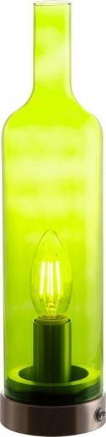 "LED Tischleuchte, grün, Material Metall, Glas ""BOTTLE"", Nino Leuchten"