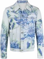 MCM Jacke mit Print - Blau