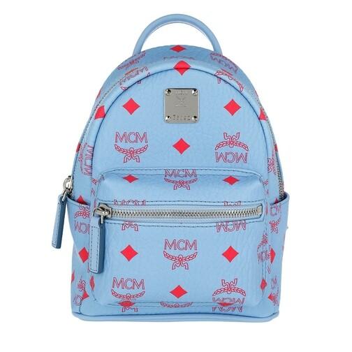 MCM Rucksack - Stark Visetos Backpack Extra - in blau - für Damen