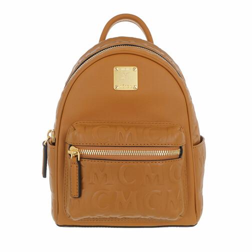 MCM Rucksack - Stk Mcm Mini Lt Backpack 020 - in cognac - für Damen