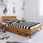 Massivholz Bett aus Wildeiche geölt Bettkasten