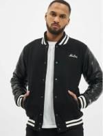 New Era Männer College Jacke Image Varsity in schwarz