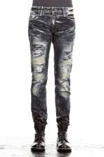 Robin`s Jean Herren Jeans MARLON SKINNY mit Nieten blau