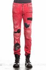 Robin`s Jean Herren Jeans MOTARD PATCHES rot
