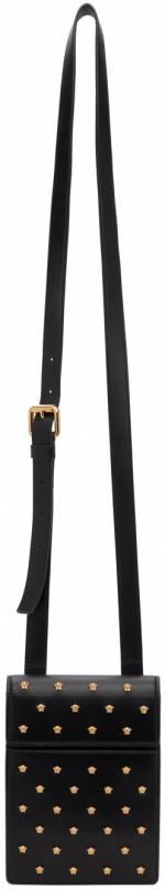 Versace Black Mini Medusa Stud Bag