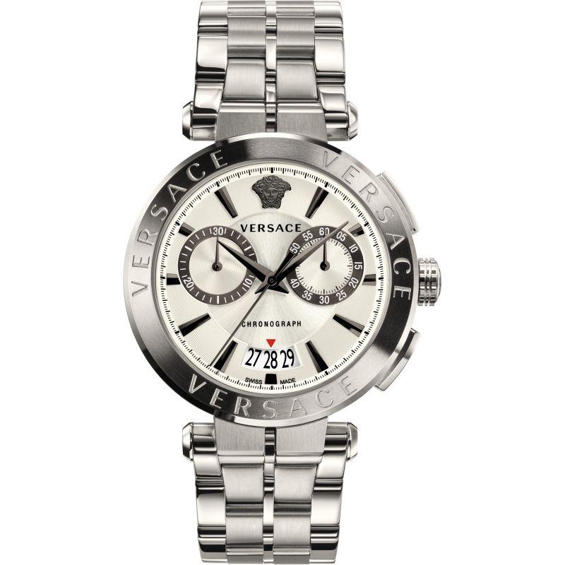 Versace V-Racer Herrenchronograph in Silber VBR040017