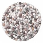 """Wollteppich """"Ballo"""", THEKO, rund, Höhe 22 mm, Filzkugel-Teppich, reine Wolle, handgefertigt, Wohnzimmer"""