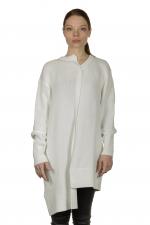 Y's Yohji Yamamoto Damen Oversized Pullover asymmetrisch weiß