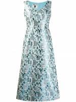 A.N.G.E.L.O. Vintage Cult 1970er Jacquard-Abendkleid - Blau