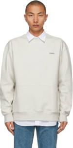 ADER error Beige Oversized Kangaroo Pocket Sweatshirt