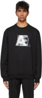 ADER error Black Layer Logo Sweatshirt