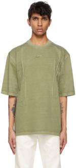 ADER error Khaki Needle Logo T-Shirt