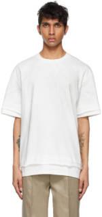 ADER error White Needle Logo Layered T-Shirt