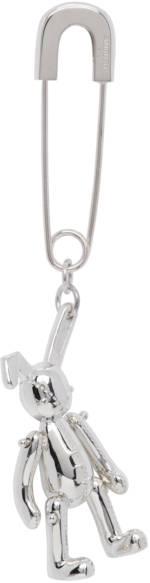 AMBUSH Silver Single Bunny Charm Earring