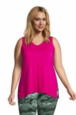 Ärmellose Tunika in großen Größen, Damen, Größe: 52-54 Plusgrößen, Pink, Jersey, by Lands' End