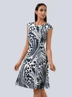 Alba Moda Sommerkleid, mit leicht überschnittener Schulter