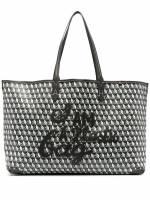Anya Hindmarch Shopper mit geometrischem Print - Grau