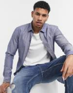 BOSS - Business - Robbie - Schmal geschnittenes, langärmliges Oxford-Hemd-Blau