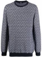 Balmain Pullover mit Print - Blau