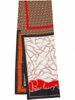 Burberry Schal mit Print - Braun