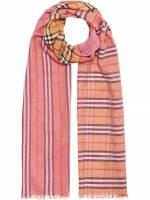 Burberry Schal mit Vintage-Check - Rosa