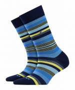 Burlington Stripe Damen Socken, 36-41, Blau, Streifen, 20799-612001