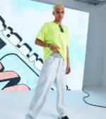 COLLUSION - x014 - Baggy-Jeans im Stil der 90er in heller, blauer Waschung