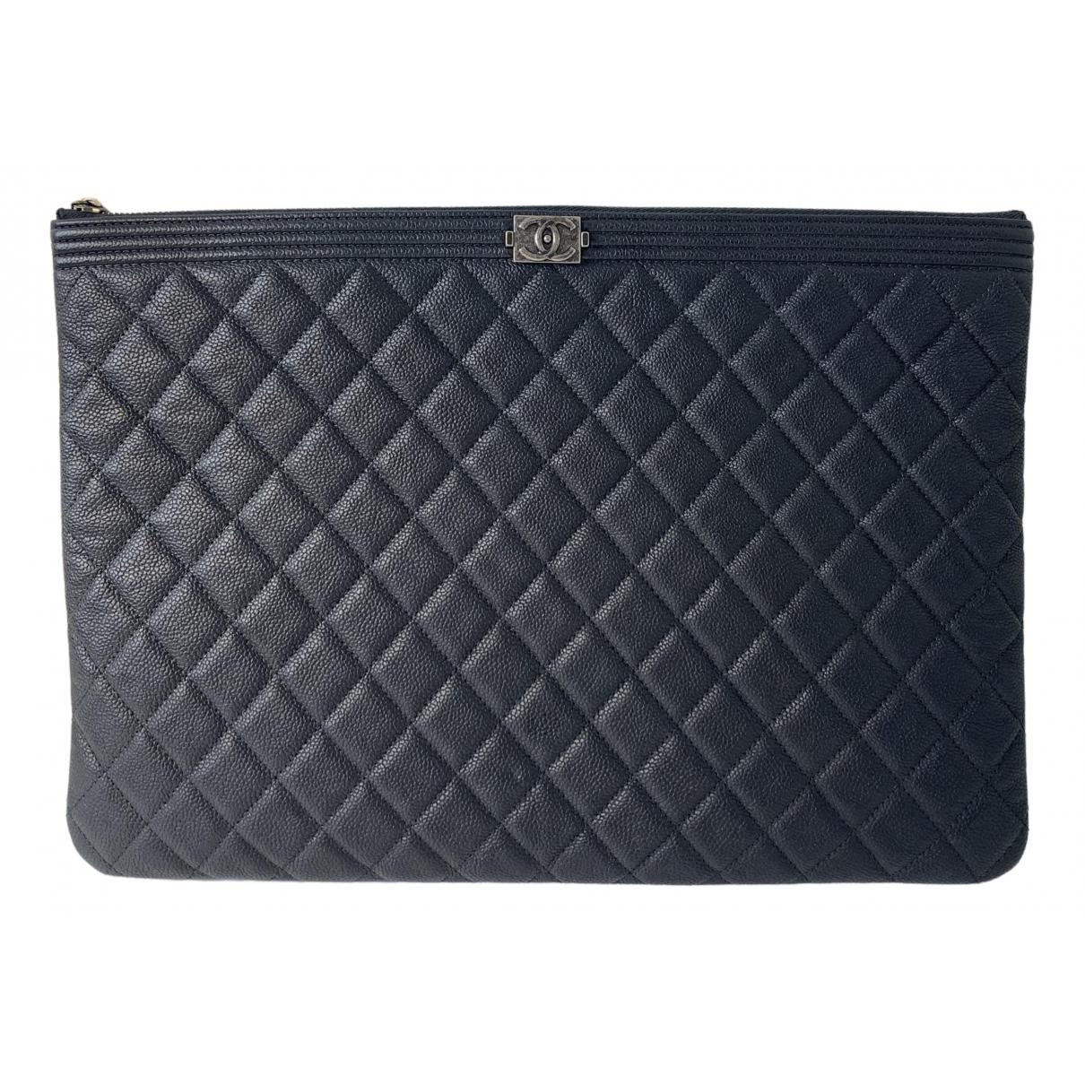 Chanel Boy leather clutch bag