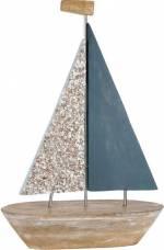 """GILDE Dekoobjekt """"Deko Segelschiff Nave"""" (1 Stück), Höhe 58 cm, aus Holz, Wohnzimmer"""