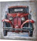 """GILDE GALLERY Metallbild """"Bild Oldtimer II"""", Auto (1 Stück), handgearbeitetes Bild, 60x60 cm, aus Metall, Motiv Oldtimer, Wohnzimmer"""