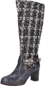 "LAURA VITA ""Leder/Textil"" High-Heel-Stiefel"