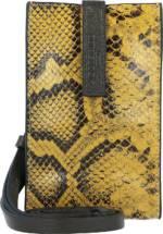 Liebeskind, Turlington Snake Handytasche Leder 11 Cm in gelb, Handyhüllen & Zubehör für Damen
