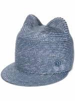 Maison Michel Mütze mit Ohren - Blau