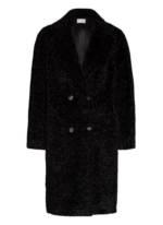 Mrs & Hugs Teddyfell-Mantel schwarz
