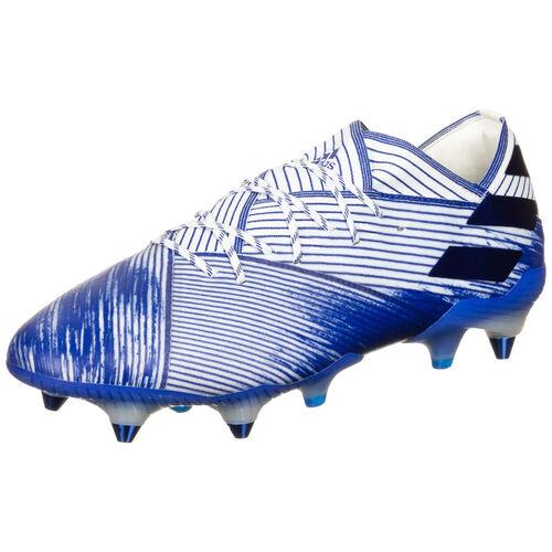 adidas Nemeziz 19.1 SG Fußballschuh Herren, weiß / blau, 8 UK - 42 EU 8.5 US