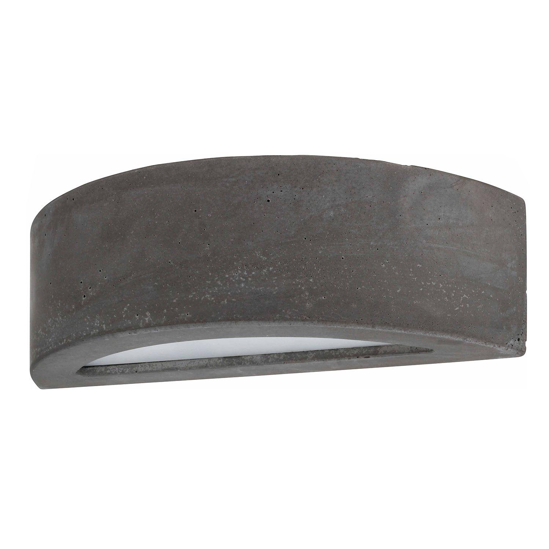 home24 Spot Light LED-Wandleuchte Block III Glühlampe Modern Grau Keramik/Glas 1-flammig G9 35x10x14 cm (BxHxT)