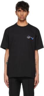 ADER error Black Foil Tape Logo T-Shirt